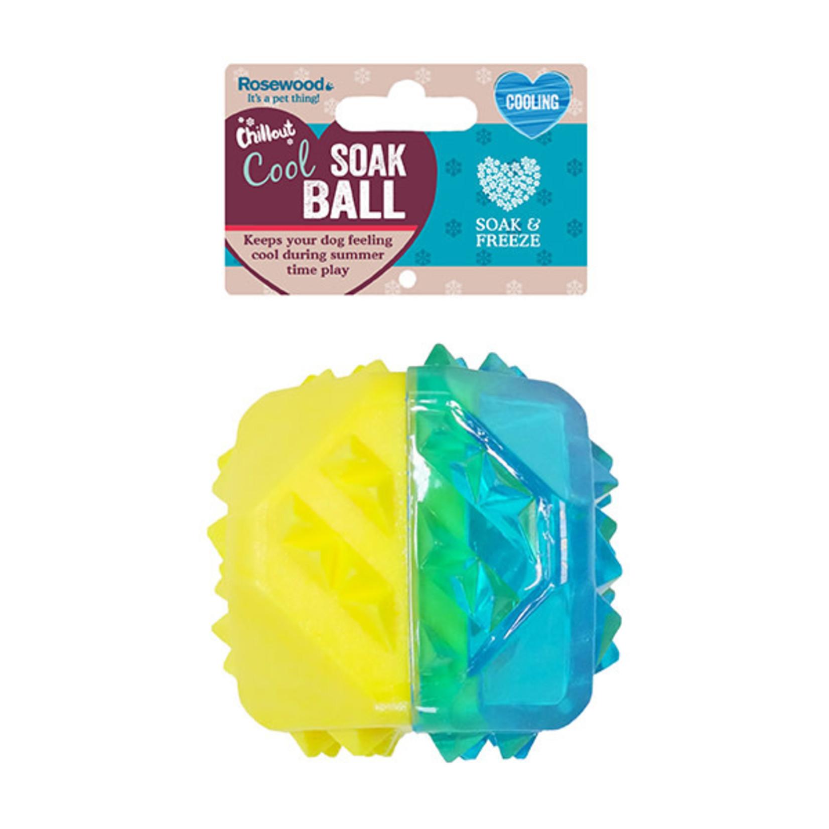 Rosewood Chillax Cool Soak Ball Dog Toy
