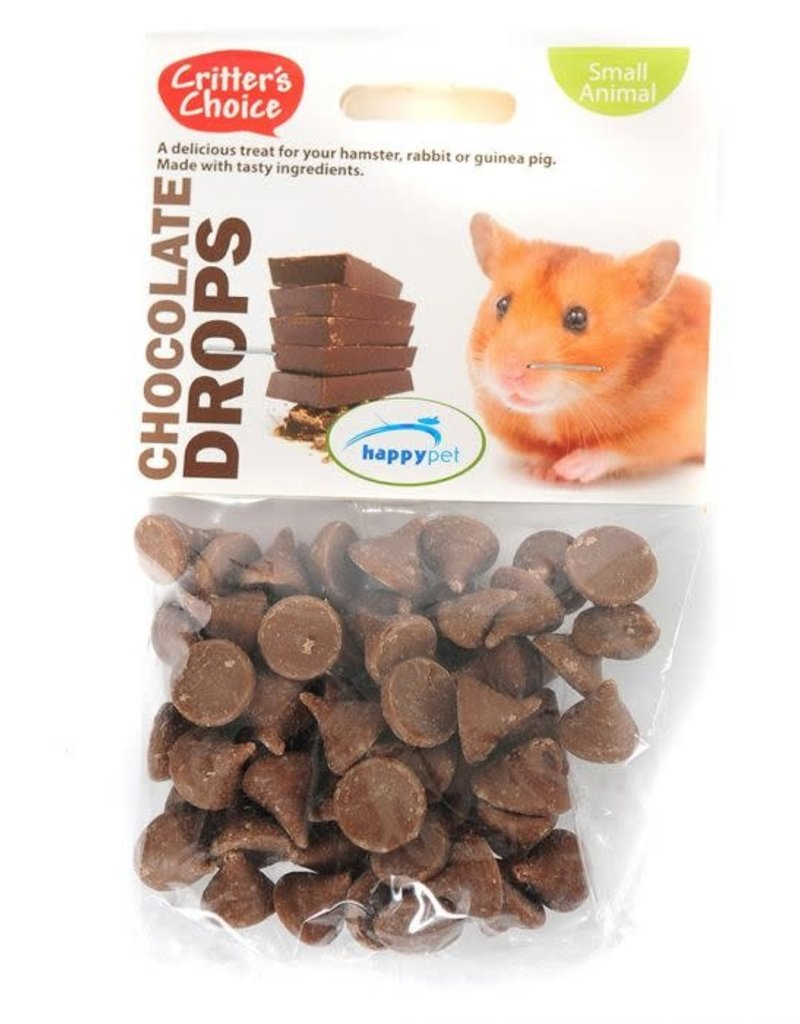 Happy Pet Critter's Choice Small Animal Chocolate Drops 75g