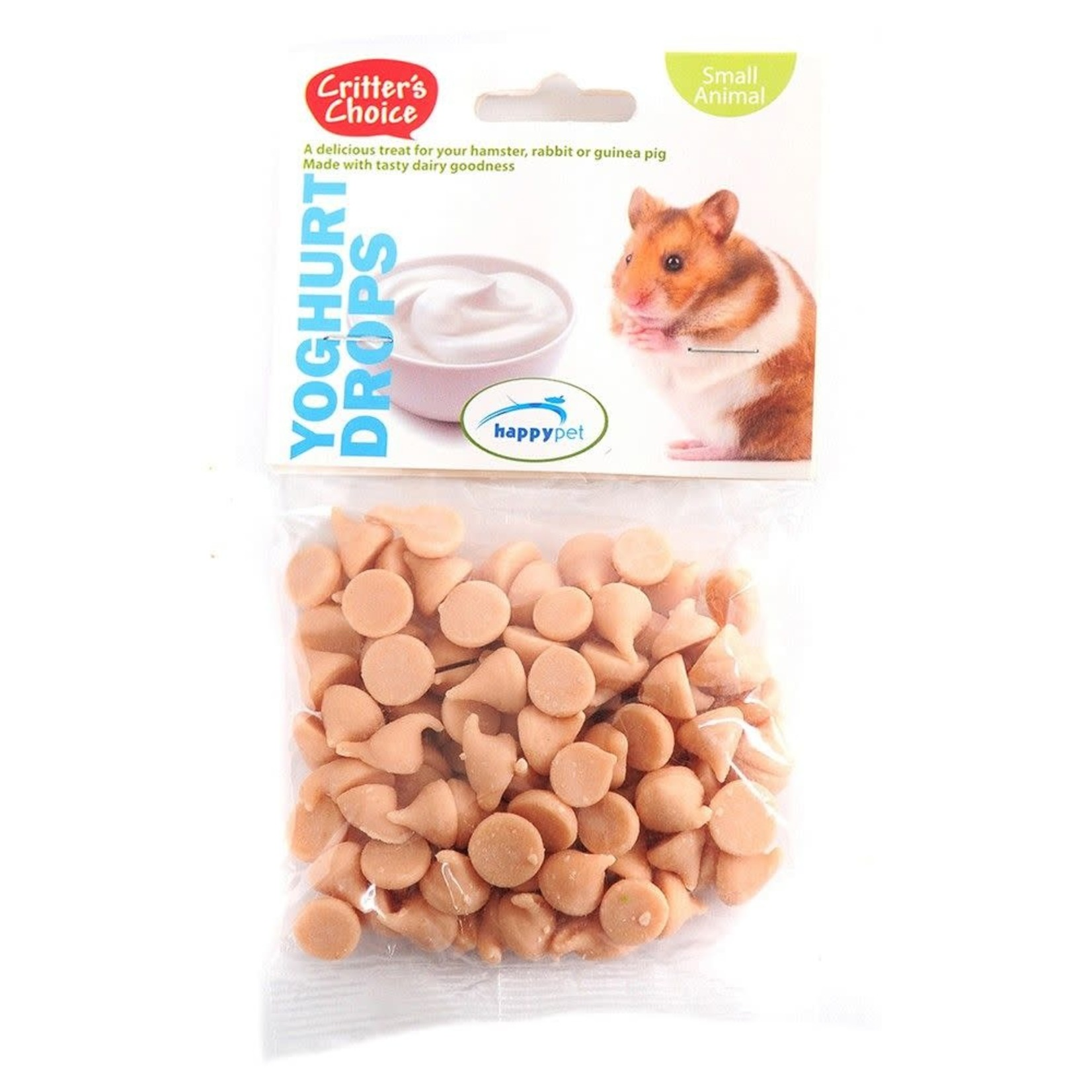 Happy Pet Critter's Choice Small Animal Treats Yoghurt Drops, 75g