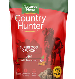 natures menu Country Hunter Superfood Crunch Dog Food Beef with Redcurrents 1.2kg