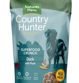 natures menu Country Hunter Superfood Crunch Dog Food Duck with Plum 1.2kg