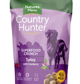 natures menu Country Hunter Superfood Crunch Dog Food Turkey with Cranberry 1.2kg