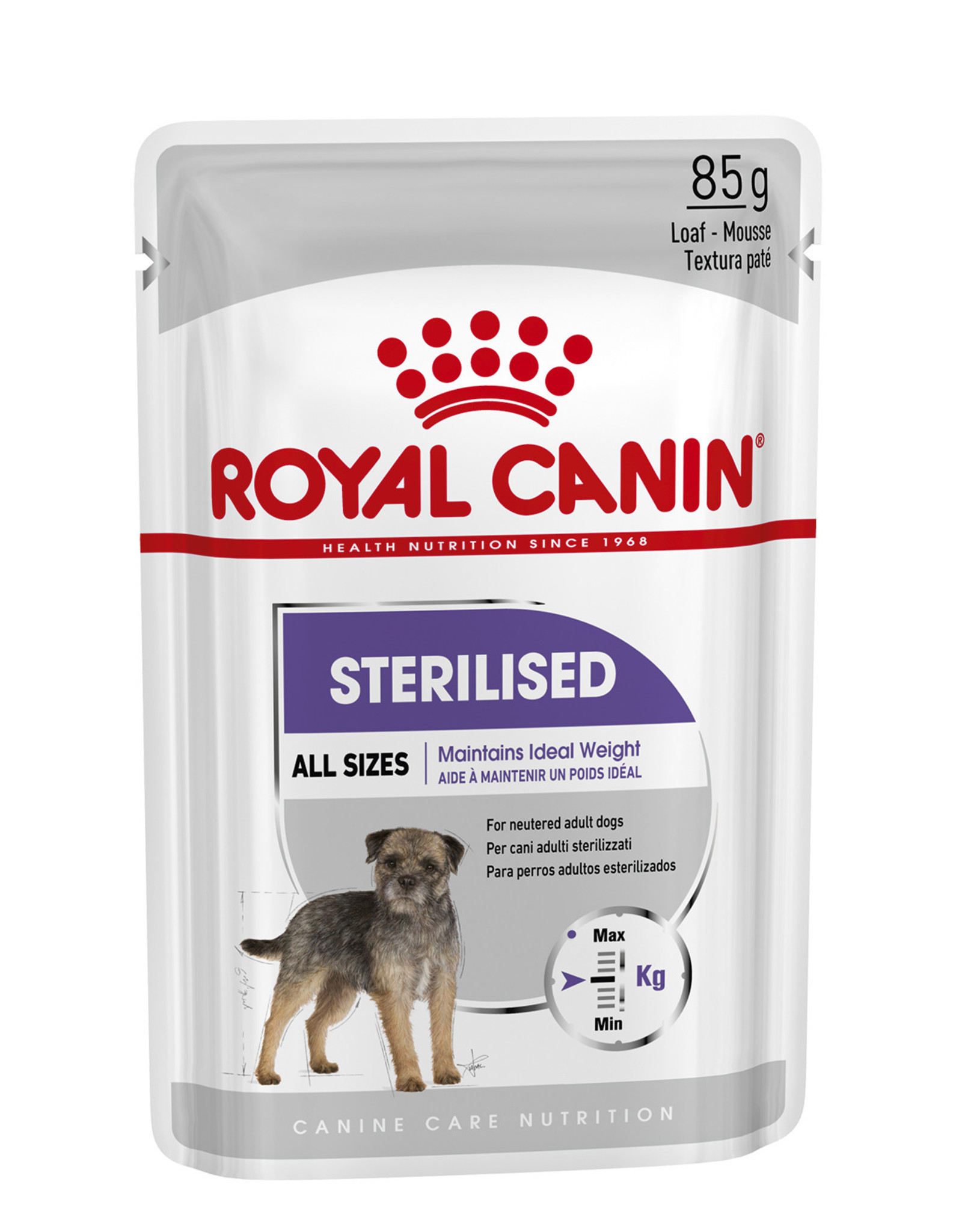 Royal Canin Sterilised Loaf Wet Pouch Dog Food, Box of 12