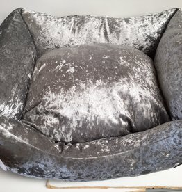 Snug & Cosy Grey Shimmer Rectangle Dog Bed