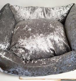 Snug & Cosy Grey Shimmer Square Dog Bed