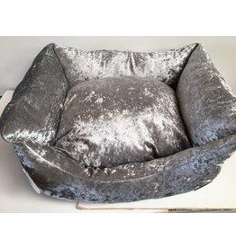 Snug & Cosy Grey Shimmer Rectangle Dog Bed