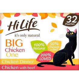 HiLife It's Only Natural Pouch Big Chicken One In Jelly Cat Food 32 x 70g