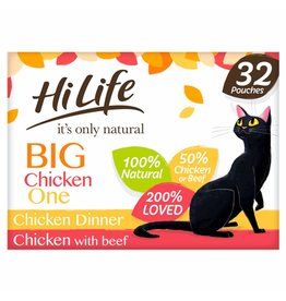 HiLife It's Only Natural Big Chicken One in Jelly Wet Cat Food Pouch, 32 x 70g