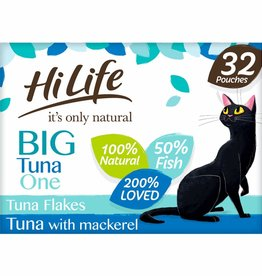 HiLife It's Only Natural Pouch Big Tuna One In Jelly Cat Food 32 x 70g