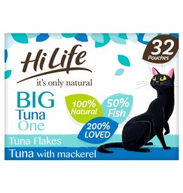 HiLife It's Only Natural Big Tuna One in Jelly Wet Cat Food Pouch, 32 x 70g
