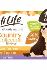 HiLife It's Only Natural Country Collection Terrines Dog Food 6 x 395g