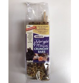 Mr Johnson's Grain Free Marigold and Hibiscus Crunchy Bars Treat for Small Animals, 140g, 2 pack