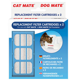 Pet Mate Replacement Filter Cartridges for Cat Mate & Dog Mate Water Fountain