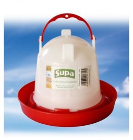 Supa Red & White Plastic Poultry Drinker