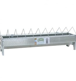 Supa 50cm Galvanised Chicken Feeder Trough & Grid
