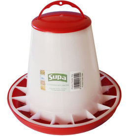 Supa Red & White Poultry Feeder