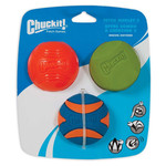 Chuckit Fetch Medley 2 Assorted Balls Dog Toy, Medium 6.5cm, 3 pack