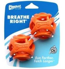 Chuckit Breathe Right Fetch Ball Medium 5.5cm, 2 pack