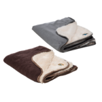 Gor Pets Nordic Double Sided Cat & Dog Blanket, Brown