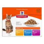 Hill's Science Plan Adult 1-6  Cat Wet Food Pouch, Gravy Favourite Multipack, 12 x 85g
