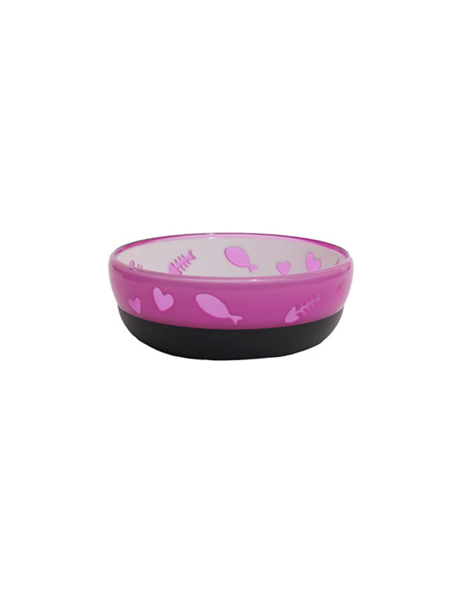 Rosewood Acrylic Anti-slip Purrfectly Purple Cat Dish