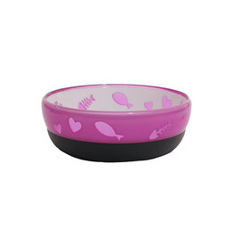 Rosewood Acrylic Anti-slip Purrfectly Purple Cat Dish