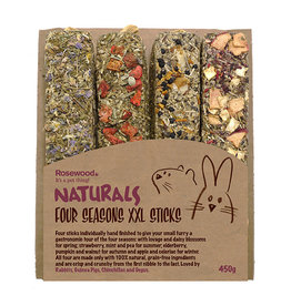 Rosewood Naturals Small Animal Treats, Four Seasons XXL Sticks 450g
