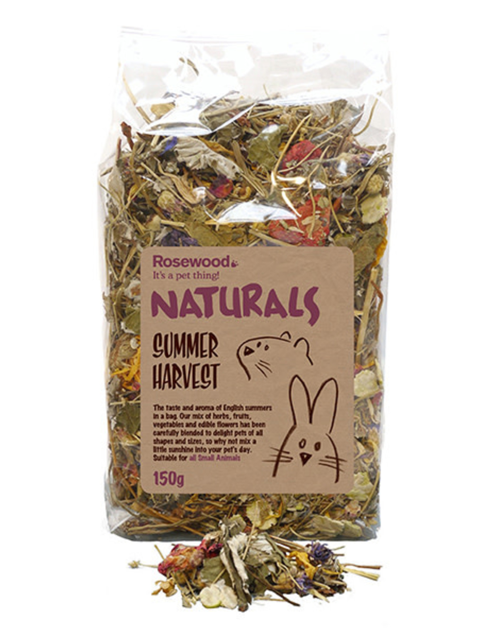 Rosewood Naturals Small Animal Treats, Summer Harvest 150g