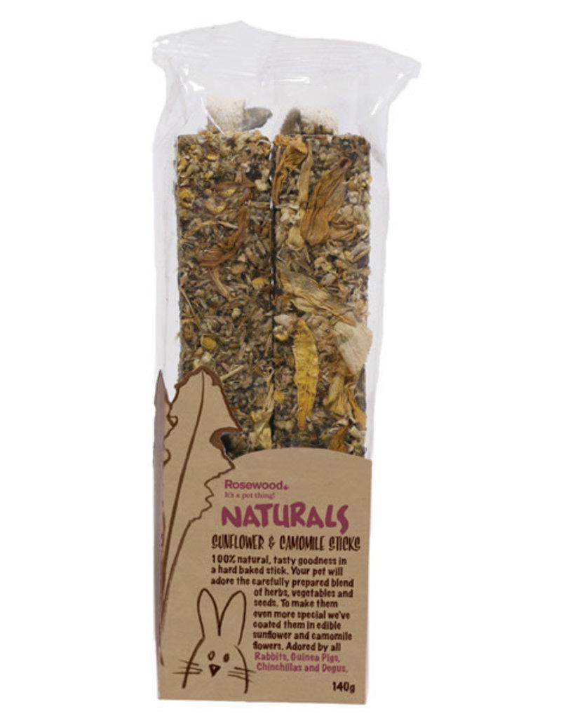 Rosewood Naturals Small Animal Treats, Sunflower & Chamomile Sticks 140g