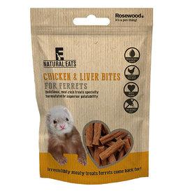 Rosewood Naturals Treats, Chicken & Liver Ferret Bites 50g