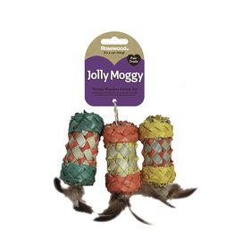 Rosewood Jolly Moggy Woven Wonders Catnip Rollers Cat Toy