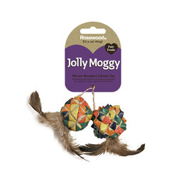 Rosewood Jolly Moggy Woven Wonders Catnip Squares Cat Toy