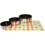 Rosewood Stoneware Multispot Dog Bowl Pet Dish, 18cm 7inch***