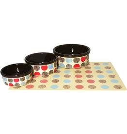 Rosewood Stoneware Multispot Dog Bowl Pet Dish, 18cm 7inch