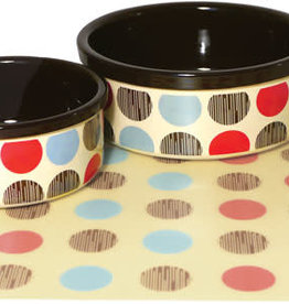 "Rosewood Stoneware Multi Spot 5"" Pet Dish"