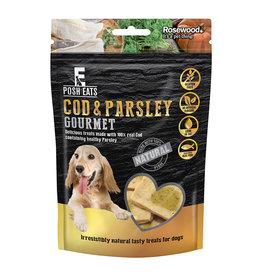 Rosewood Posh Eats Natural Gourmet Cod & Parsley Dog Treats, 80g