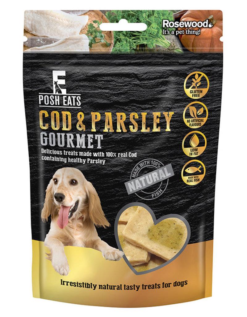Rosewood Posh Eats Natural Cod & Parsley Gourmet Dog Treats 80g