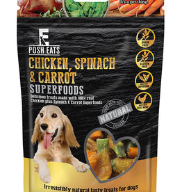 Rosewood Posh Eats Natural Chicken, Spinach & Carrot Superfood Dog Treats, 80g