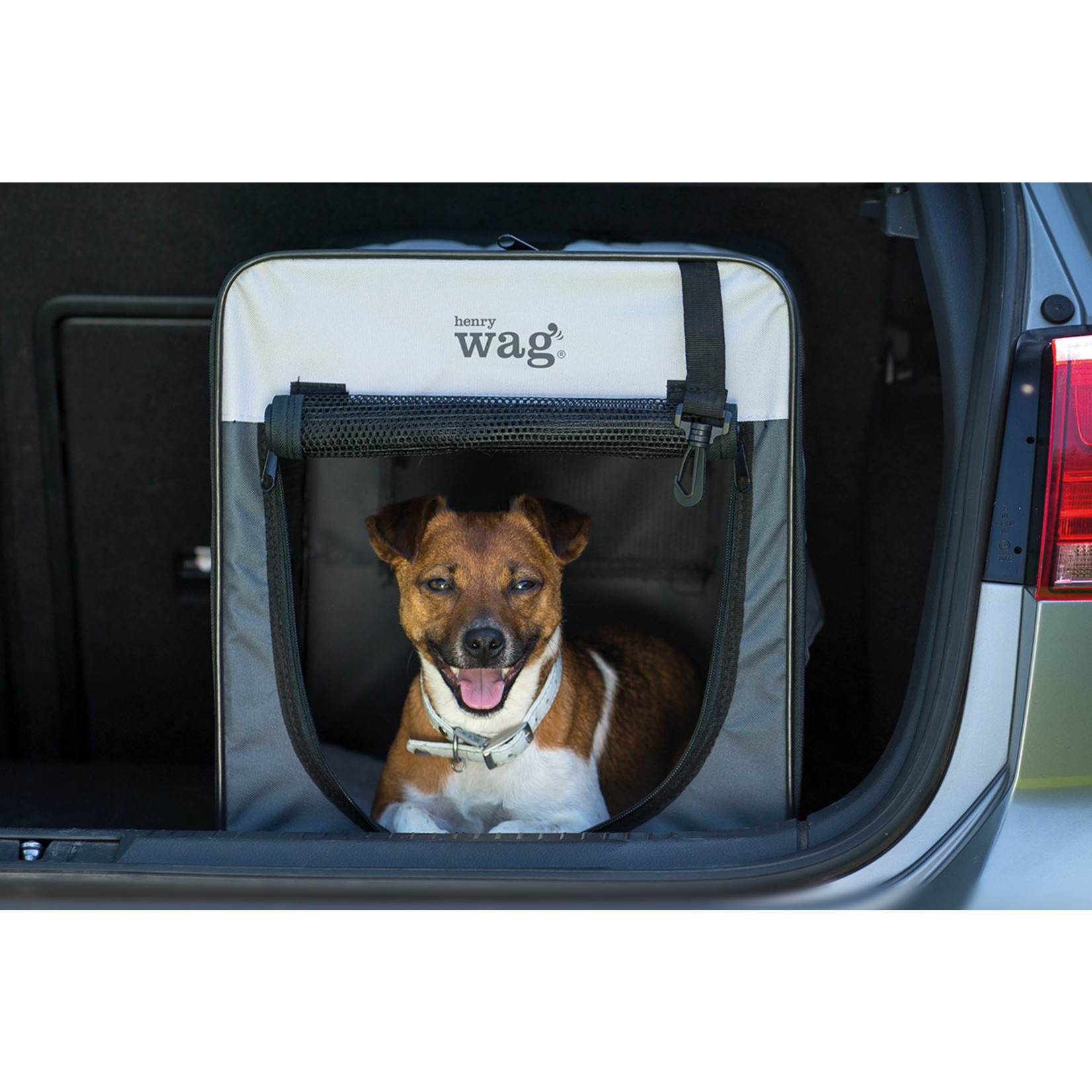 Henry Wag Folding Fabric Pet Travel Crate, Medium 64x46x53cm