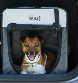 Henry Wag Folding Fabric Travel Crate Small 46x38x41cm
