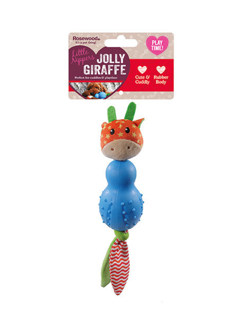 Rosewood Little Nippers Jolly Giraffe Soft & Cuddly Toy for Puppies and Small Dogs