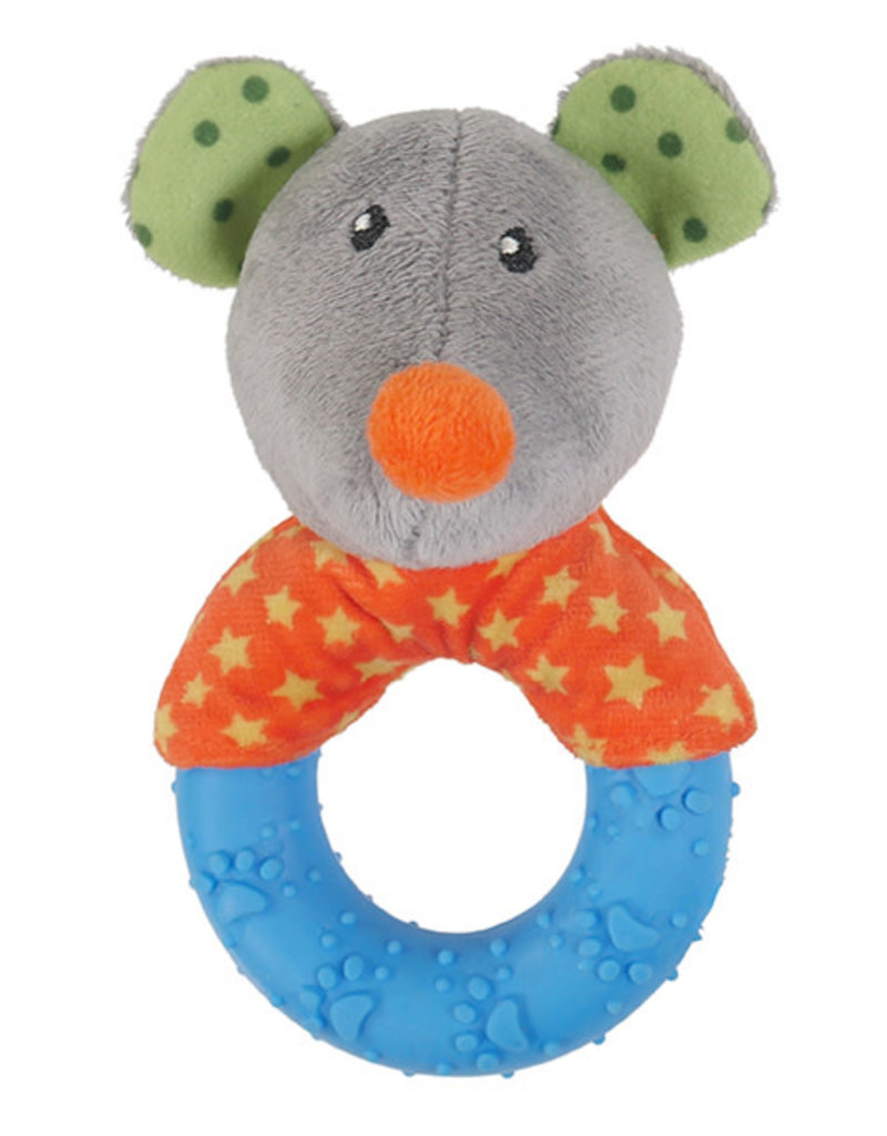 Rosewood Little Nippers Mischief Mouse Soft & Cuddly Toy for Puppies and Small Dogs