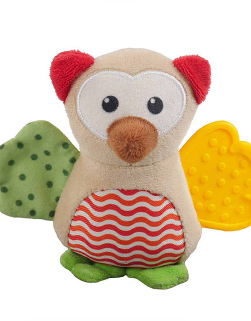 Rosewood Little Nippers Wise Owl Soft & Cuddly Toy for Puppies and Small Dogs