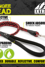 Ancol Extreme Shock Absorb Rope Lead Black/Red 1.2m