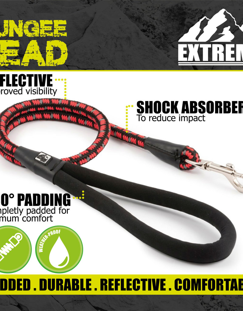 Ancol Extreme Shock Absorb Rope Lead Black/Red 120cm