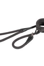 Ancol Rope Slip Lead Black/Grey Stripe 150cm x 12mm