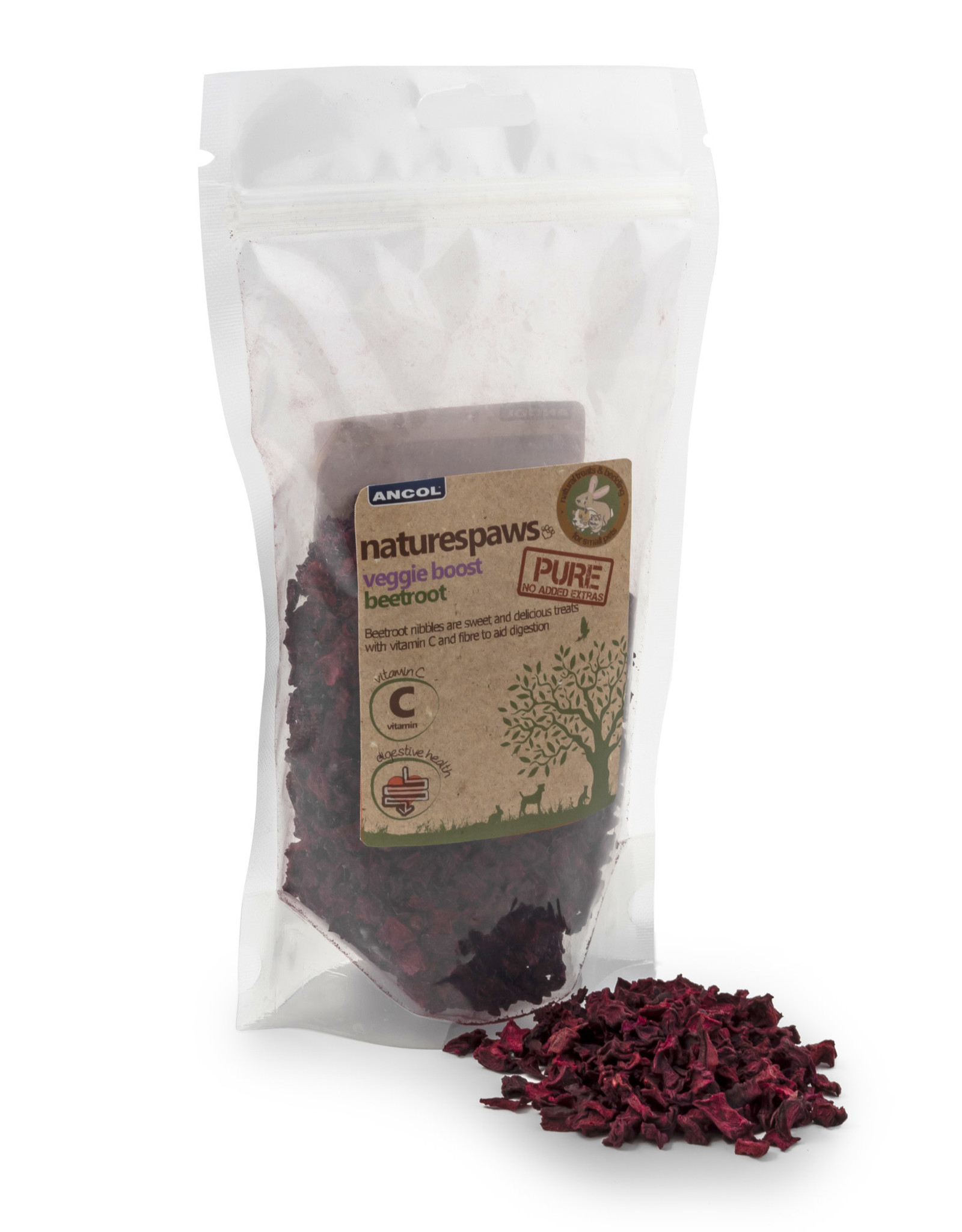 Ancol Natures Paw's Beetroot Small Animal Treats 125g