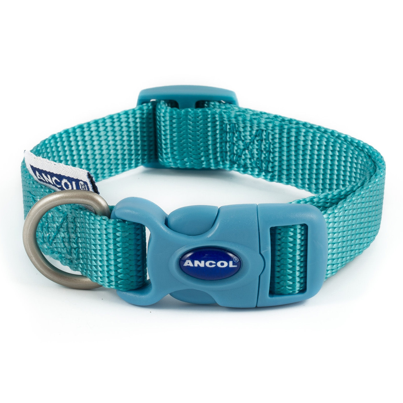 Ancol Adjustable Nylon Teal Dog Collar