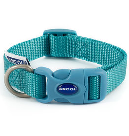 Ancol Adjustable Nylon Teal Dog Collar