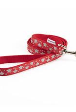 Ancol Nylon Red Reflective Stars Dog Lead 100cm x 19mm